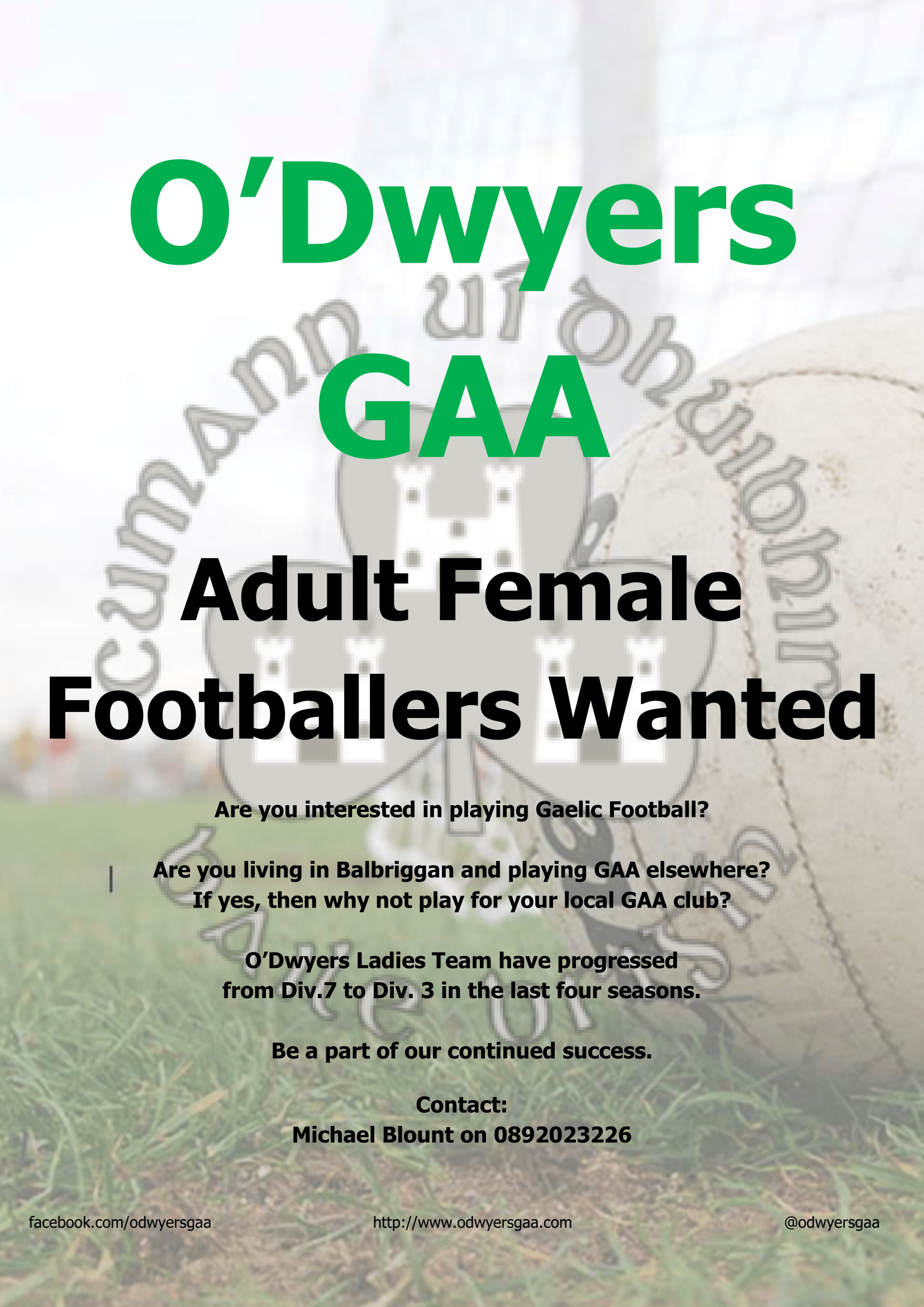 Adult Female Footballers Wanted!