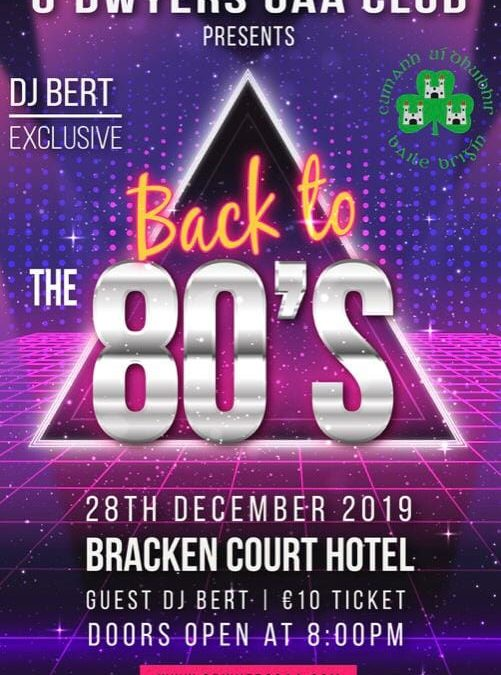 80s Night 28th December