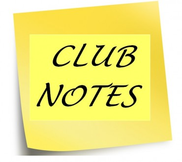 Club Notes 20th September 2020