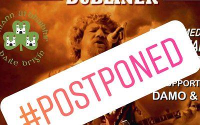 Luke Kelly Tribute Night Postponed