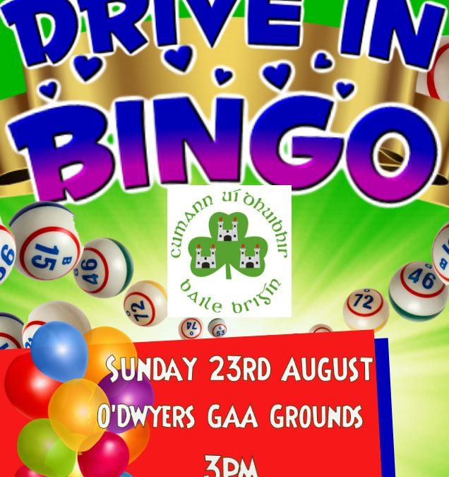 Drive In Bingo Sunday 23rd August
