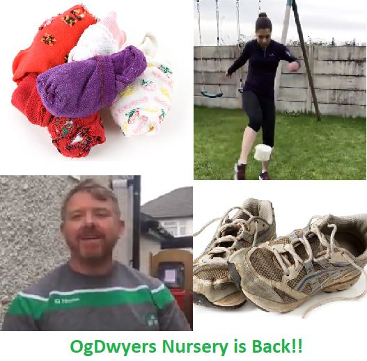 OgDwyers GAA Nursery (Ages 4-7) 'Online' This Saturday