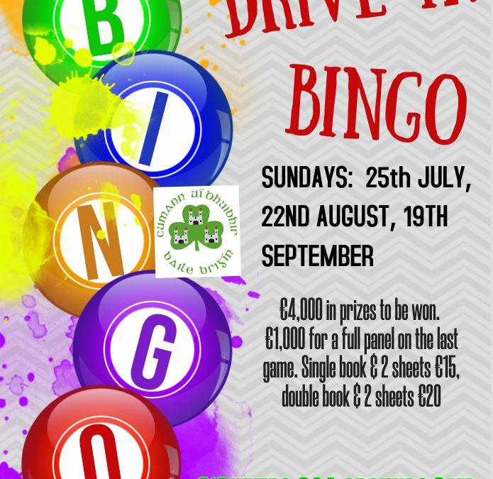 Drive in Bingo is back!!