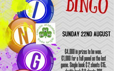 Drive in Bingo this Sunday!