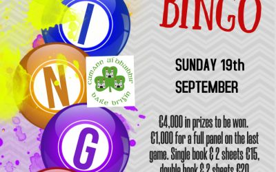 Last Drive in Bingo of the Summer this Sunday!